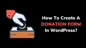 Donation form in WordPress