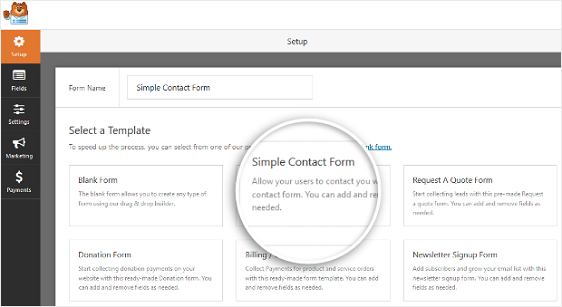 Simple-Contact-Form-Template