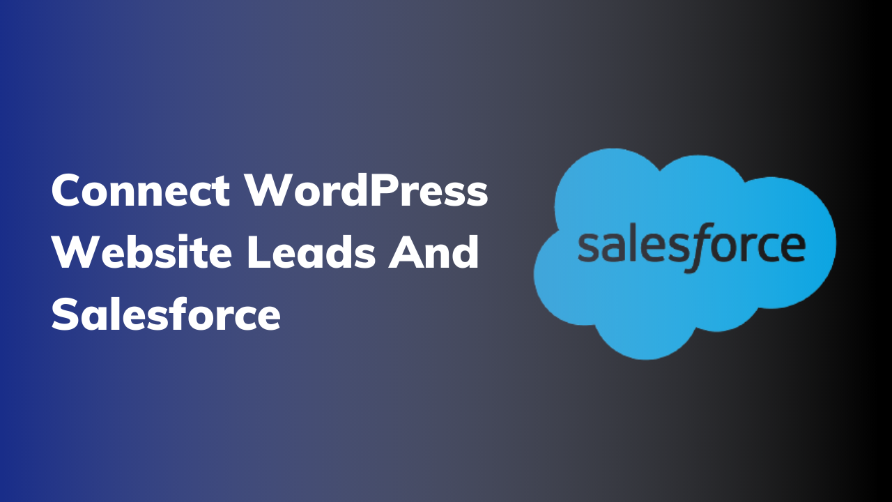 Connect WordPress Website Leads And Salesforce