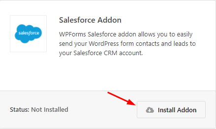 Install Salesforce addon